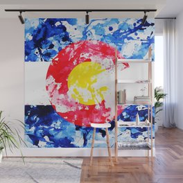 Colorado Watercolor Flag Wall Mural