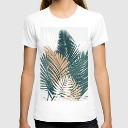 Gold and Green Palm Leaves T-shirt