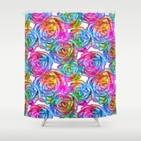 roses Shower Curtains featuring Roses by Aloke Design