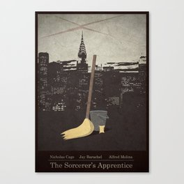 The Sorcerer's Apprentice - Minimal Poster Canvas Print