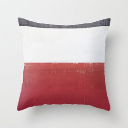 Black White Red 01 Throw Pillow