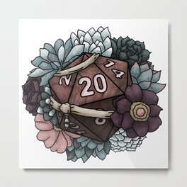 Monk Class D20 - Tabletop Gaming Dice Metal Print