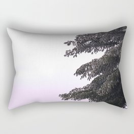 Icy Pine Tree Rectangular Pillow