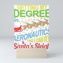 Funny Aeronautics Student Christmas Gift Mini Art Print