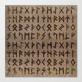 Ancient Celtic Runes  Alphabet pattern Canvas Print