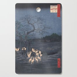 New Year's Eve Foxfires at the Changing Tree, Hiroshige Cutting Board