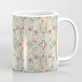 Soft Marsala and Sage Pattern Coffee Mug