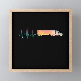 Truck Driver Gift Framed Mini Art Print