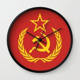 Communist Cold War Flag Wall Clock