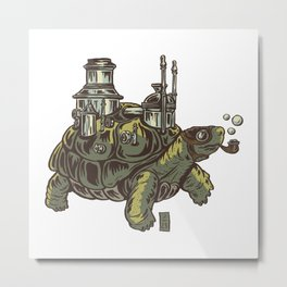 Steampunk Turtle Metal Print