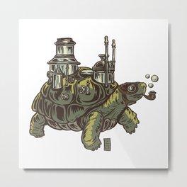 Steampunk Turtle Metal Print
