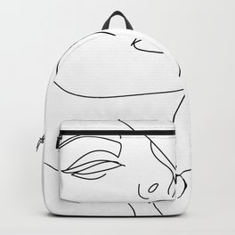 Woman In One Line Backpack
