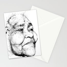"""""""Gabriela"""" of the Kaweskar People B+W Stationery Cards"""