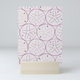 Sanddollar Pattern in Purple Mini Art Print