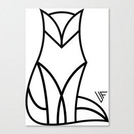 Linear Fox Canvas Print