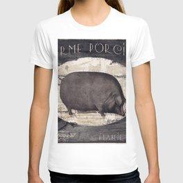 Vintage French Farm Sign Pig T-shirt