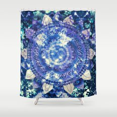 Boho Grape Fizz Mandala Shower Curtain