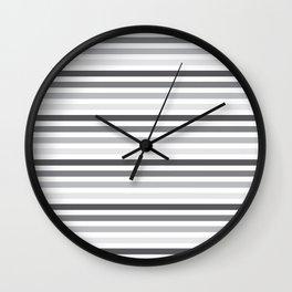 Gray Stripes Wall Clock