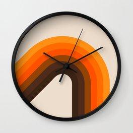 Golden Bending Bow Wall Clock