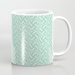 Celtic Knot Pattern in Green Coffee Mug