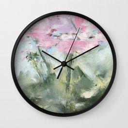 geraniums III Wall Clock