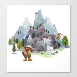 Bear troop Canvas Print