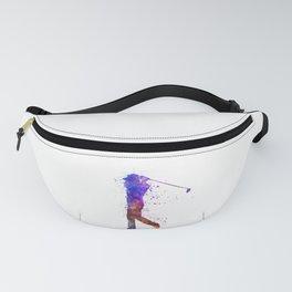 man golfer swing silhouette 01 Fanny Pack