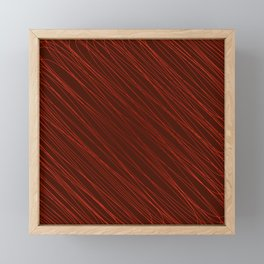 Vintage ornament of their red threads and repetitive intersecting fibers. Framed Mini Art Print