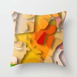 red spot Throw Pillow