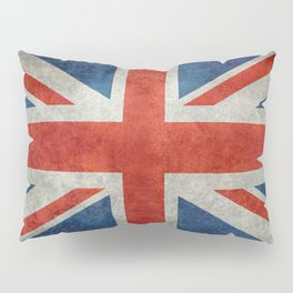 British flag of the UK, retro style Pillow Sham