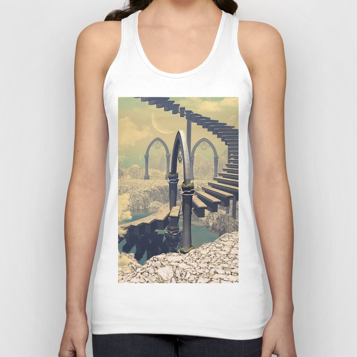 The treppe in the sky Unisex Tank Top