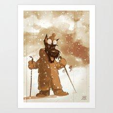 Mountain Scottie Art Print