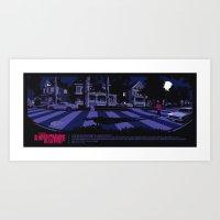 freddy krueger Art Prints featuring FREDDY KRUEGER by Mike Wrobel