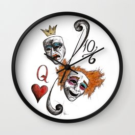 Drama Mad Hatter Wall Clock