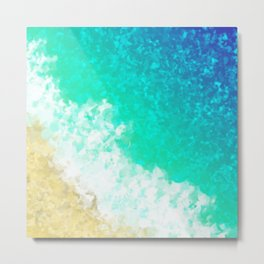 As The Waves Wash Over Me Metal Print