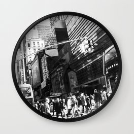 On the Street in NYC Wall Clock