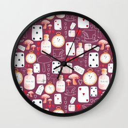 Alice in Wonderland - Purple Madness Wall Clock