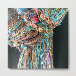 Knitter 7: Fiber is Good for You Metal Print