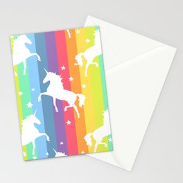 Rainbow Unicorns Stationery Cards