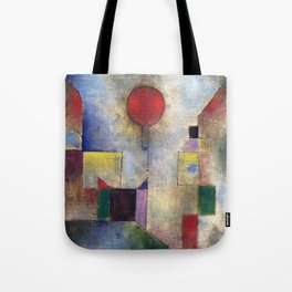 Paul Klee Red Balloon 1922 Artwork for Tshirts Posters Prints Men Women and Kids Tote Bag