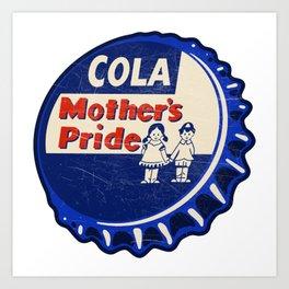 Vintage Mother's Pride Cola Soda Pop Bottle Cap Art Print