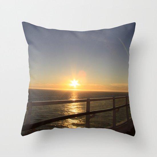 Ocean Sun Throw Pillow