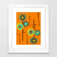 Mod Flowers Alastair Framed Art Print