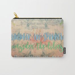 Sparrows & Lilies Carry-All Pouch