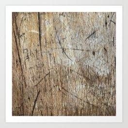 Scratched Wood Art Print