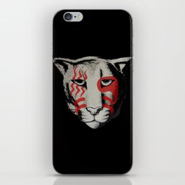 war paint cougar iPhone Skin