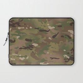 Military Woodland Camouflage Pattern Laptop Sleeve