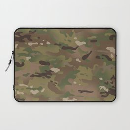 Military Woodland Camouflage Pattern Laptop Sleeve