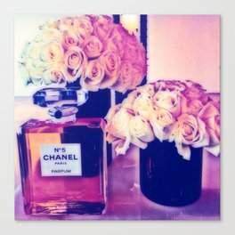 CHANELNo. 5 in Color Canvas Print