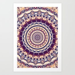 Abstractions in colors (Mandala) Art Print